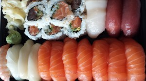 Sushi med vanlig ris uten sukker