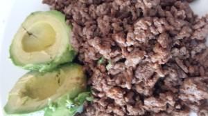 Karbonadeig og avokado