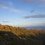 Solnedgang og utsikt over Marbella fra toppen av fjellet